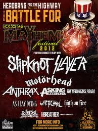 Motorhead, Slayer, Slipknot and Anthrax  Klipsch Music Center