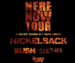 Nickelback, Bush, Seether & My Darkest Days Klipsch Music Center